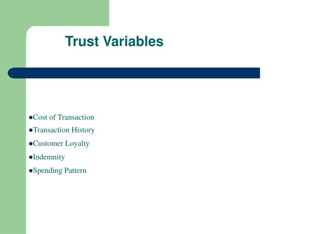 Trust Variables