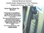 internal revenue service united states department of the treasury telephone excise tax refund