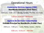 operational hours