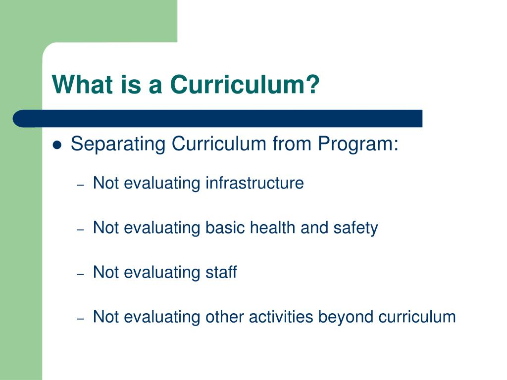 What is a Curriculum?
