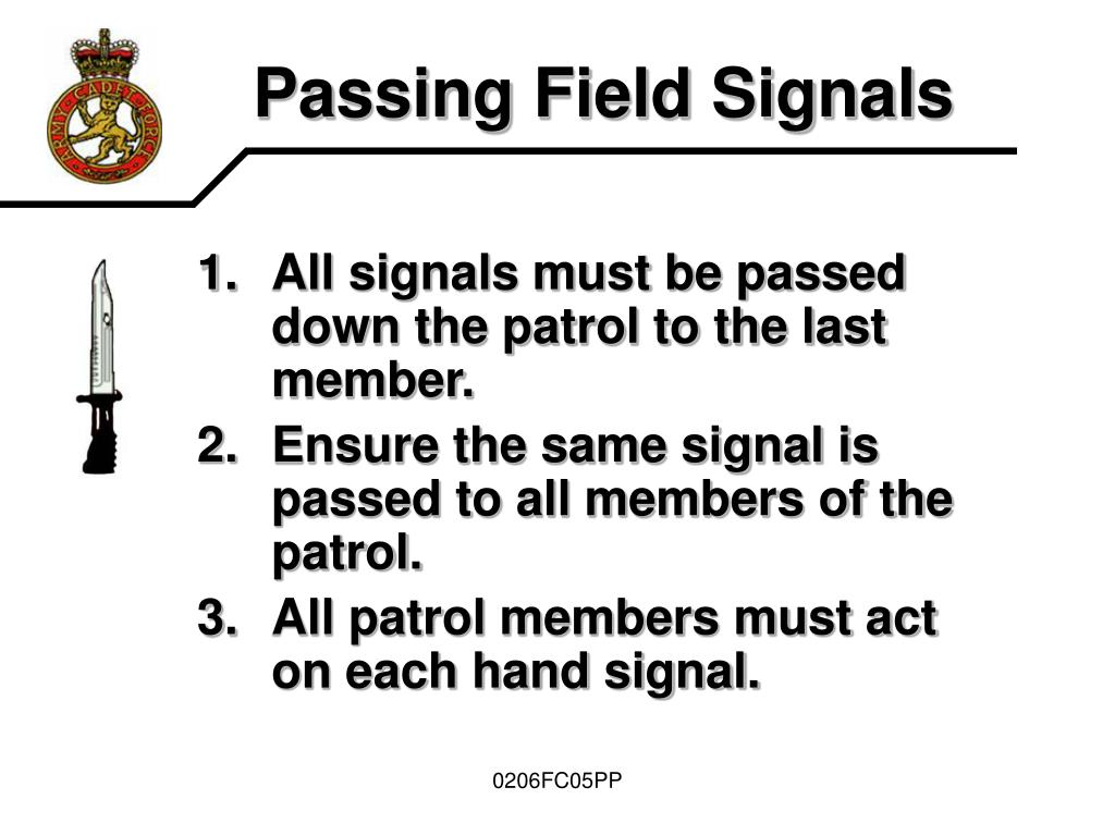 Passing Field Signals
