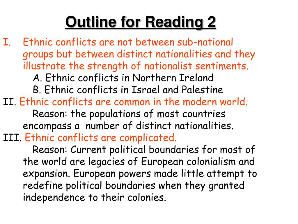 Outline for Reading 2