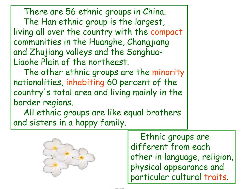 There are 56 ethnic groups in China.