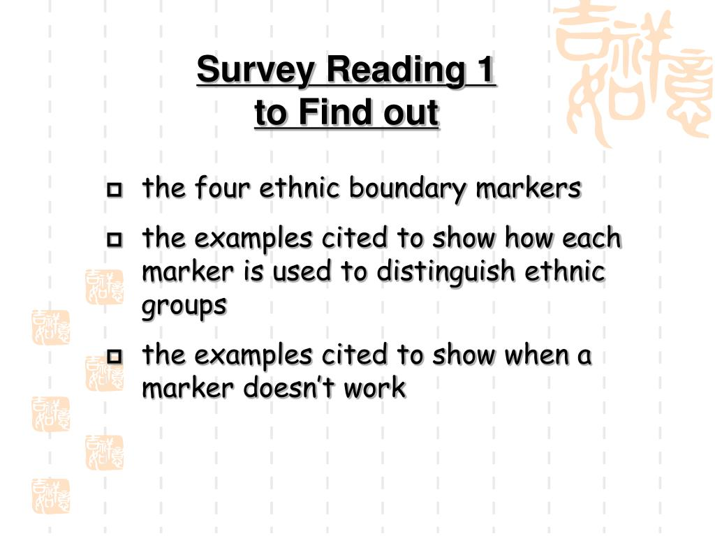 Survey Reading 1 to Find out