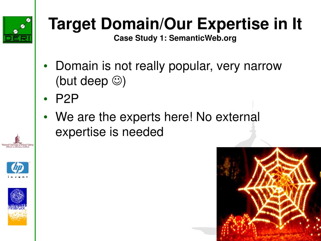 Target Domain/Our Expertise in It
