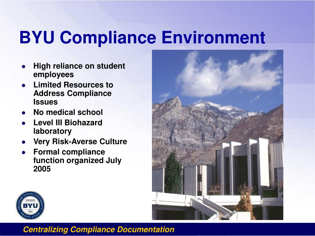 BYU Compliance Environment
