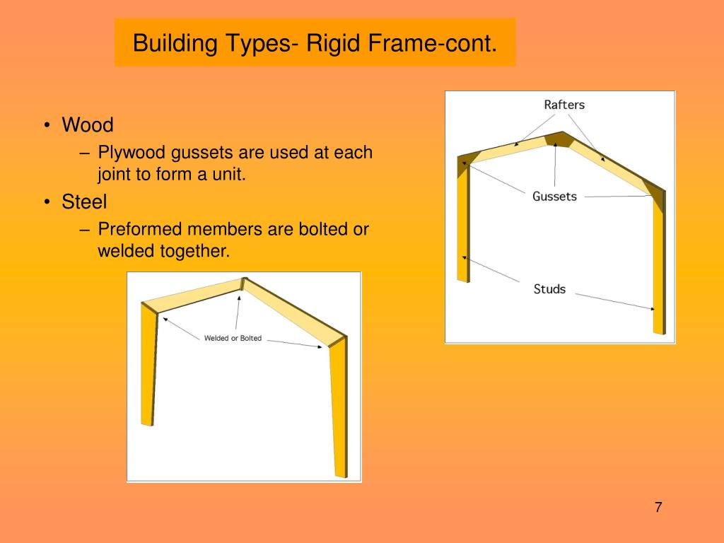 Building Types- Rigid Frame-cont.