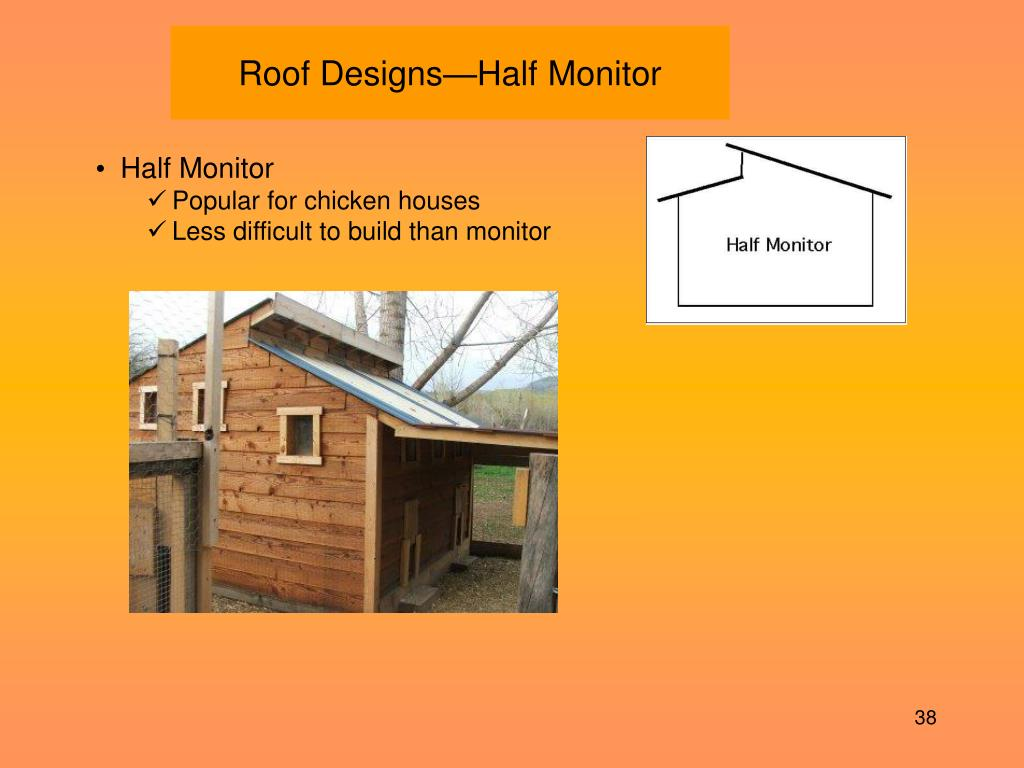 Roof Designs—Half Monitor