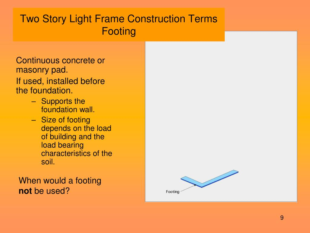 Two Story Light Frame Construction Terms
