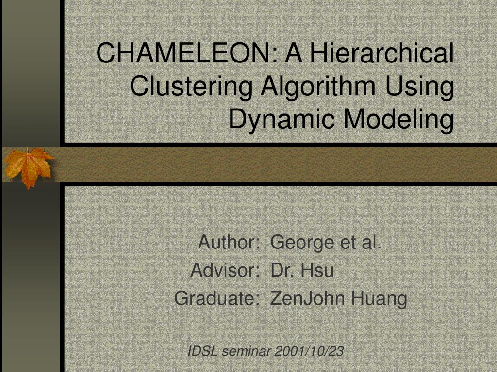 chameleon a hierarchical clustering algorithm using dynamic modeling l.