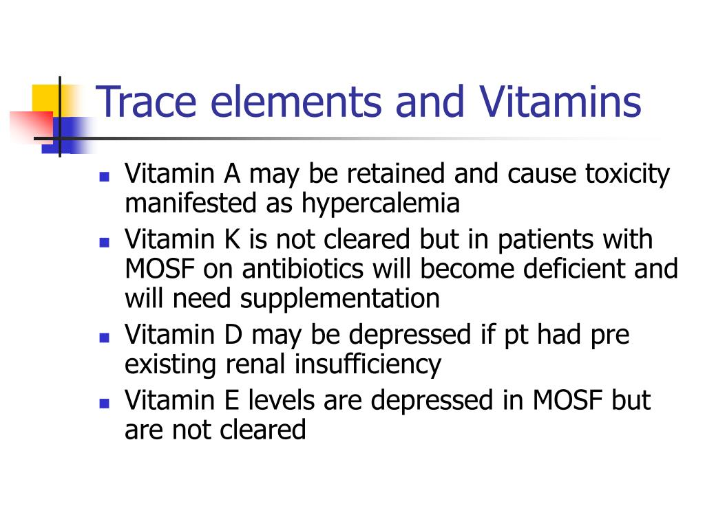 Trace elements and Vitamins