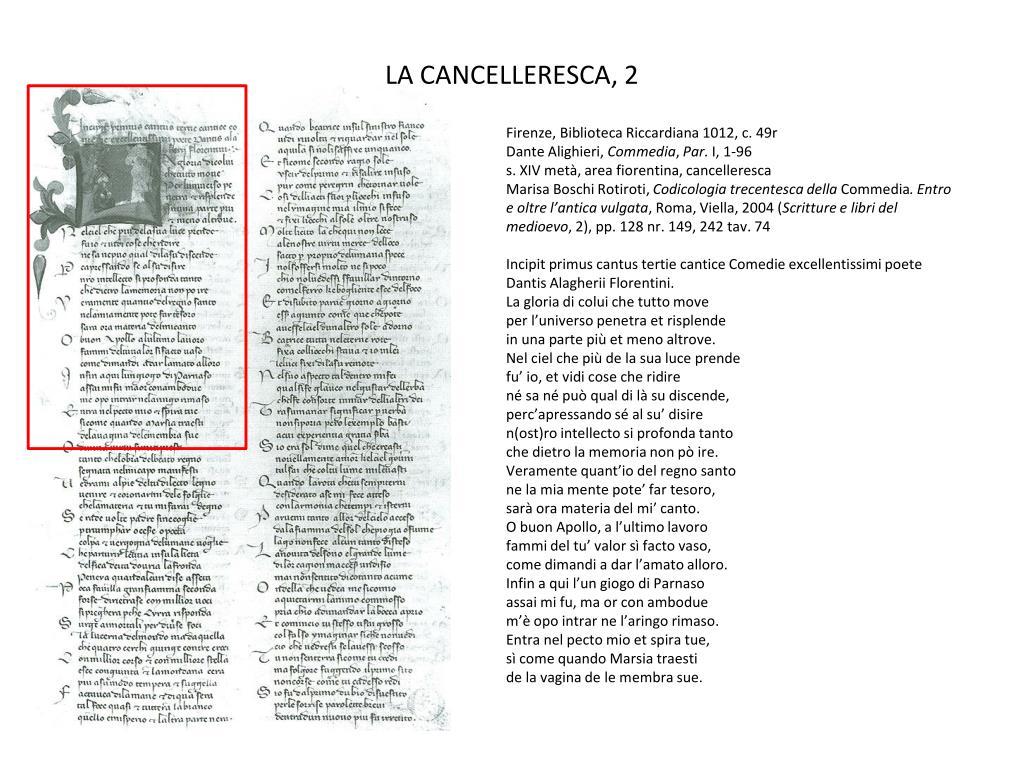 LA CANCELLERESCA, 2