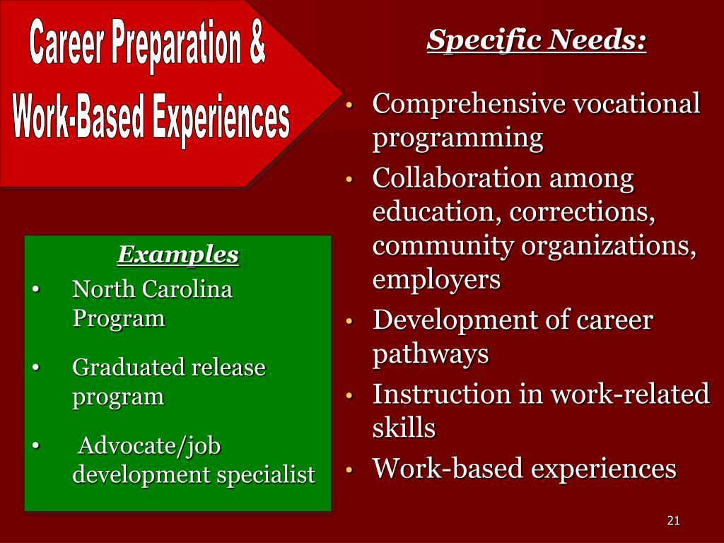 Specific Needs: