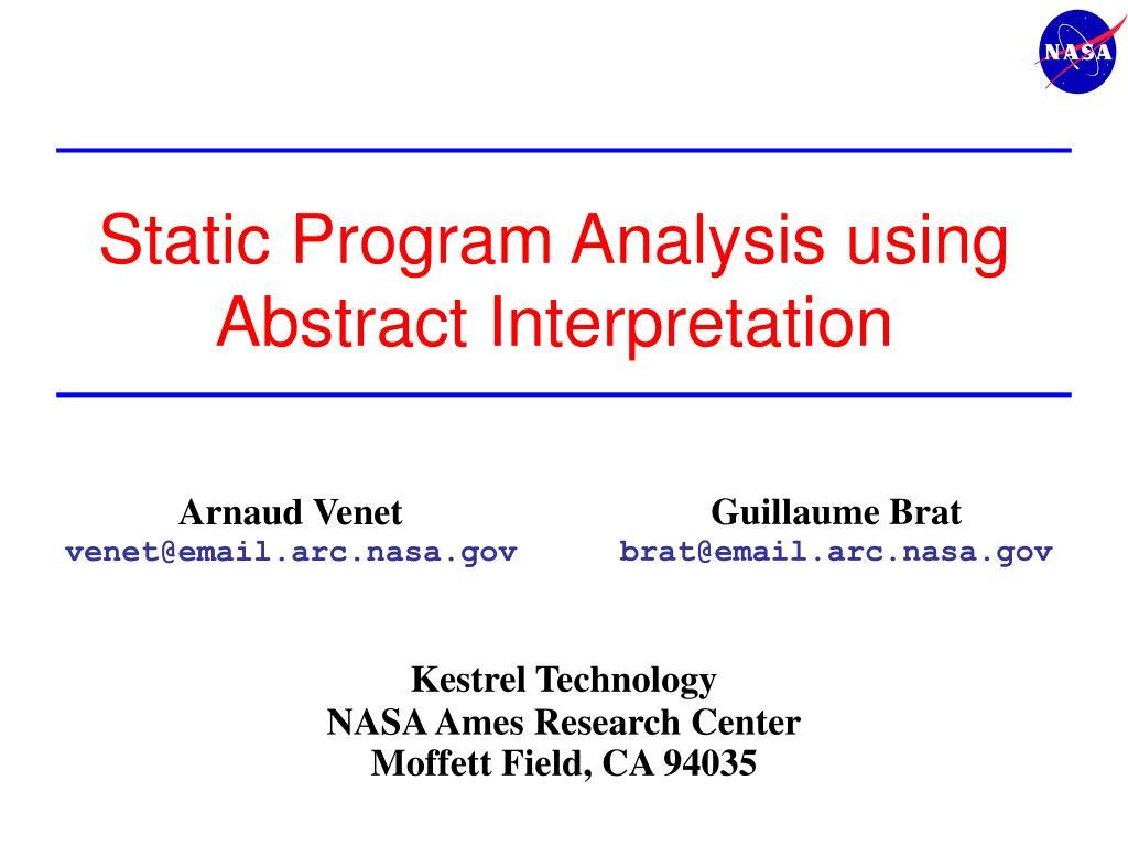 static program analysis using abstract interpretation l.