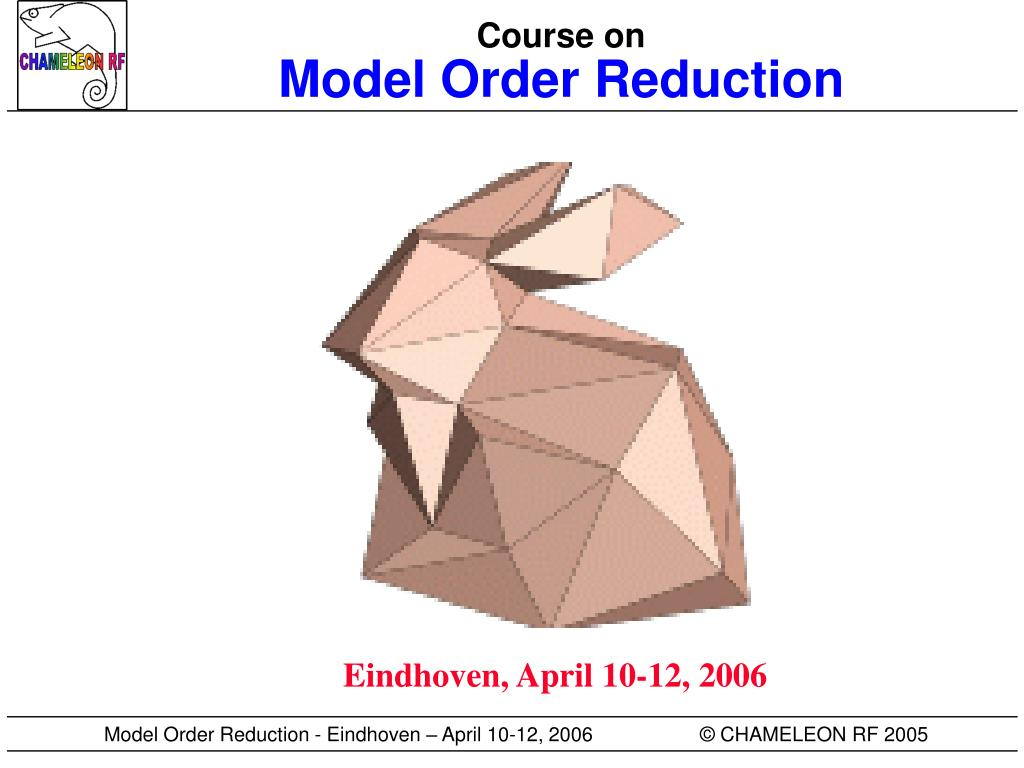 course on model order reduction l.