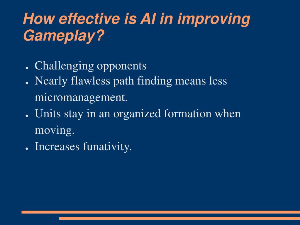 How effective is AI in improving Gameplay?