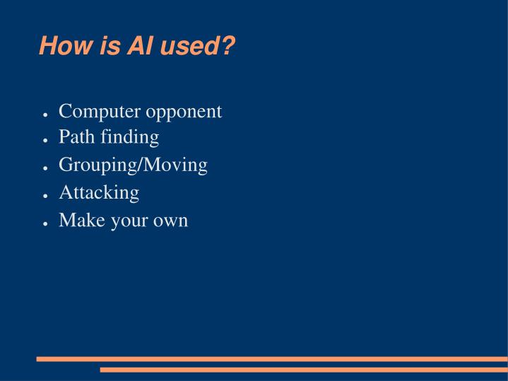 How is ai used