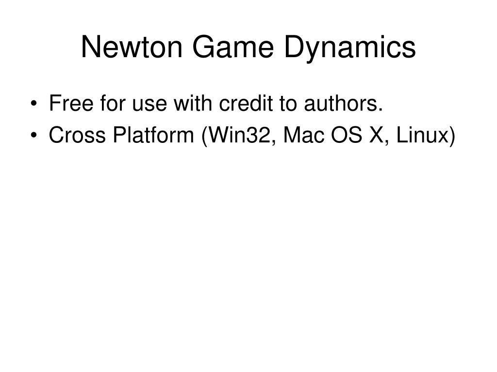 Newton Game Dynamics