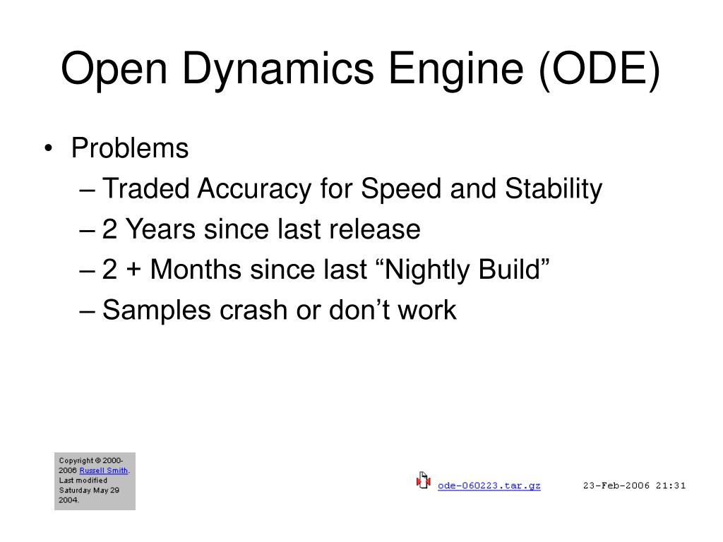 Open Dynamics Engine (ODE)