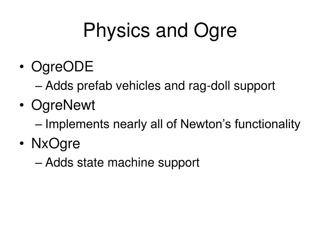Physics and Ogre