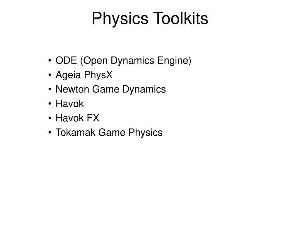 Physics Toolkits