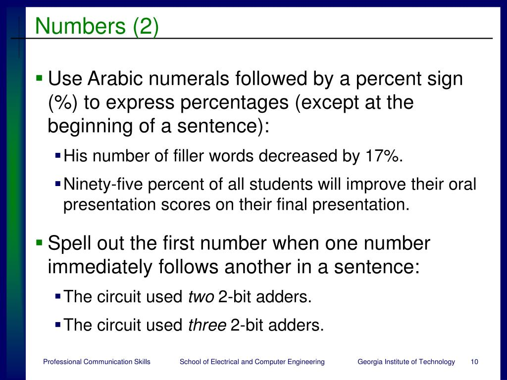 Numbers (2)