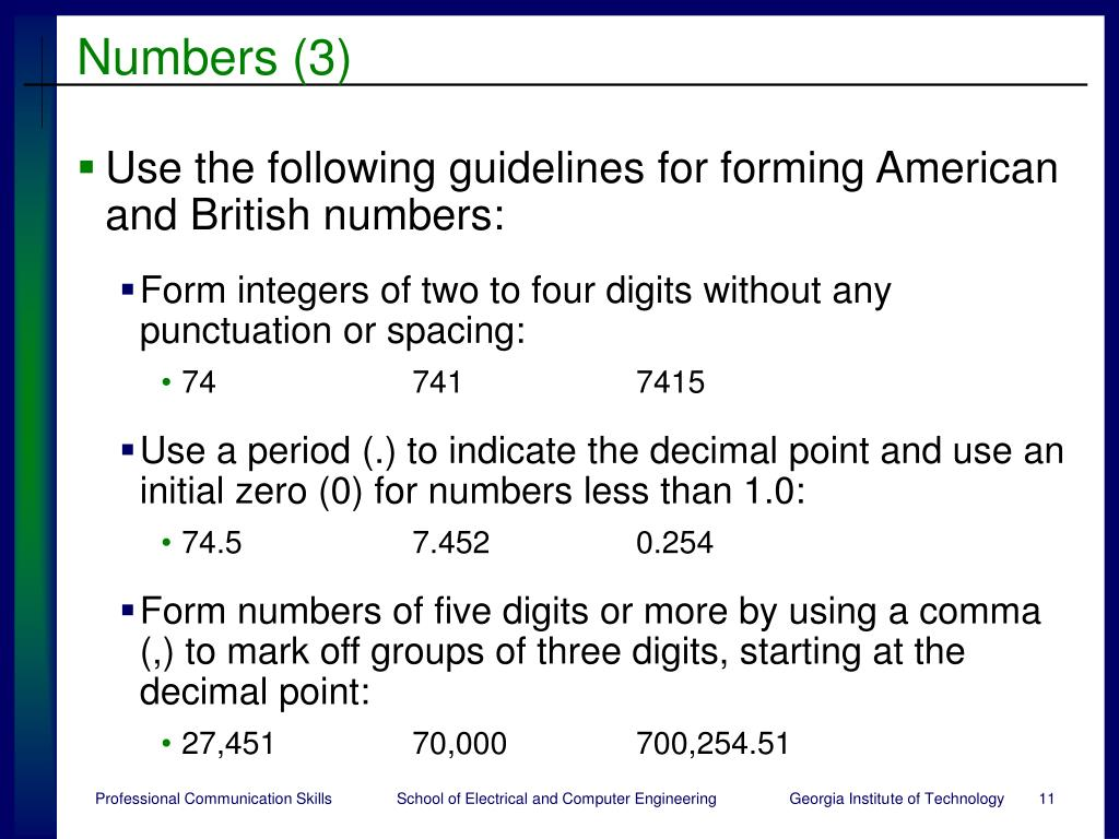 Numbers (3)
