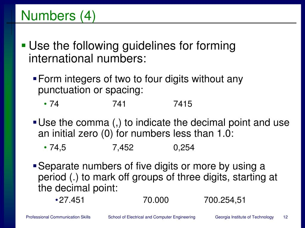 Numbers (4)