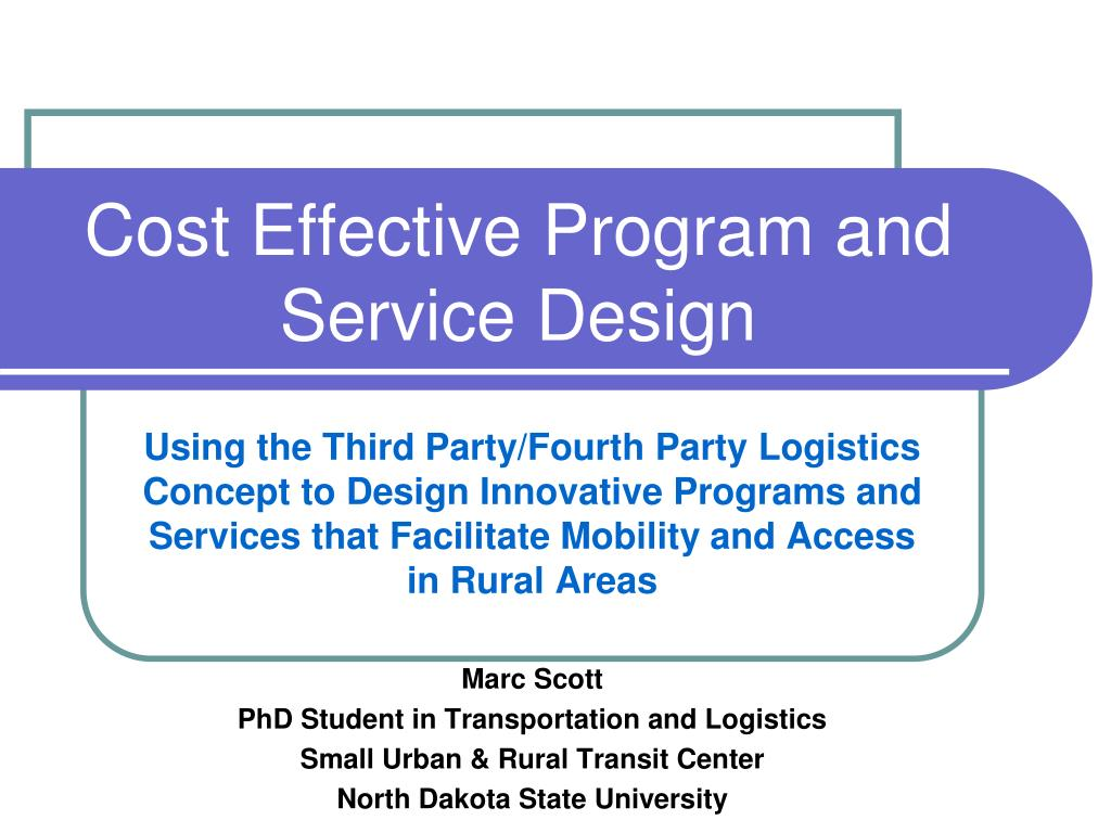 cost effective program and service design l.