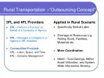 rural transportation outsourcing concept