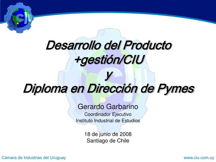 Gerardo garbarino coordinador ejecutivo instituto industrial de estudios