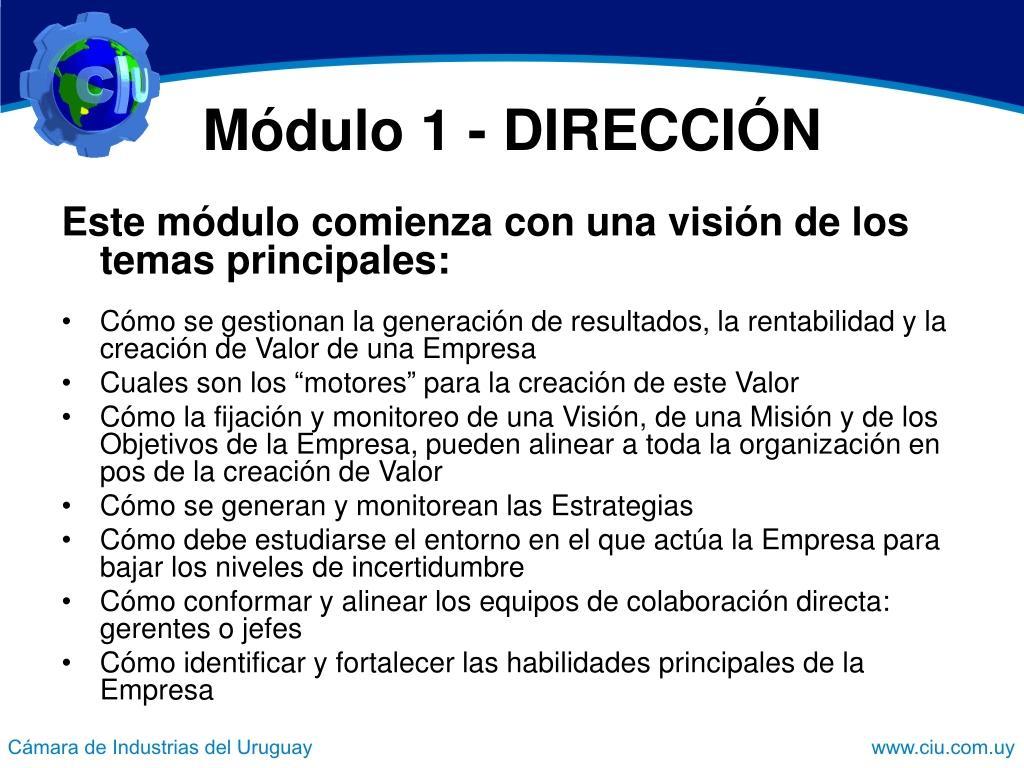 Módulo 1 - DIRECCIÓN