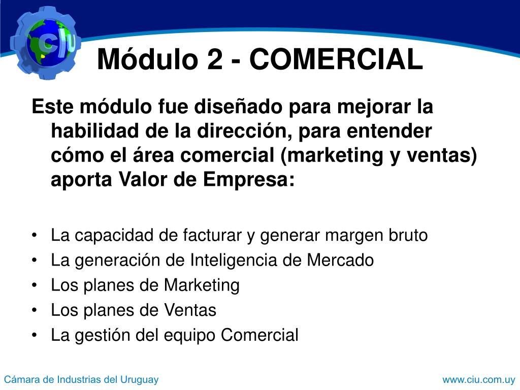 Módulo 2 - COMERCIAL