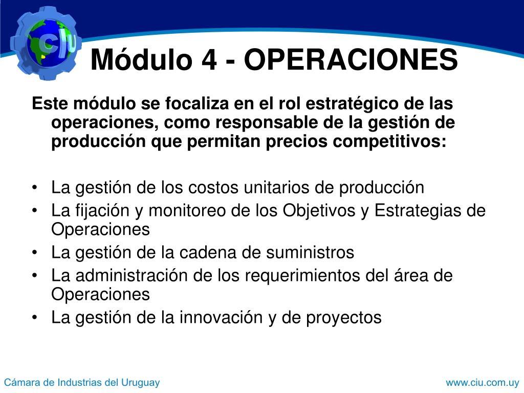 Módulo 4 - OPERACIONES