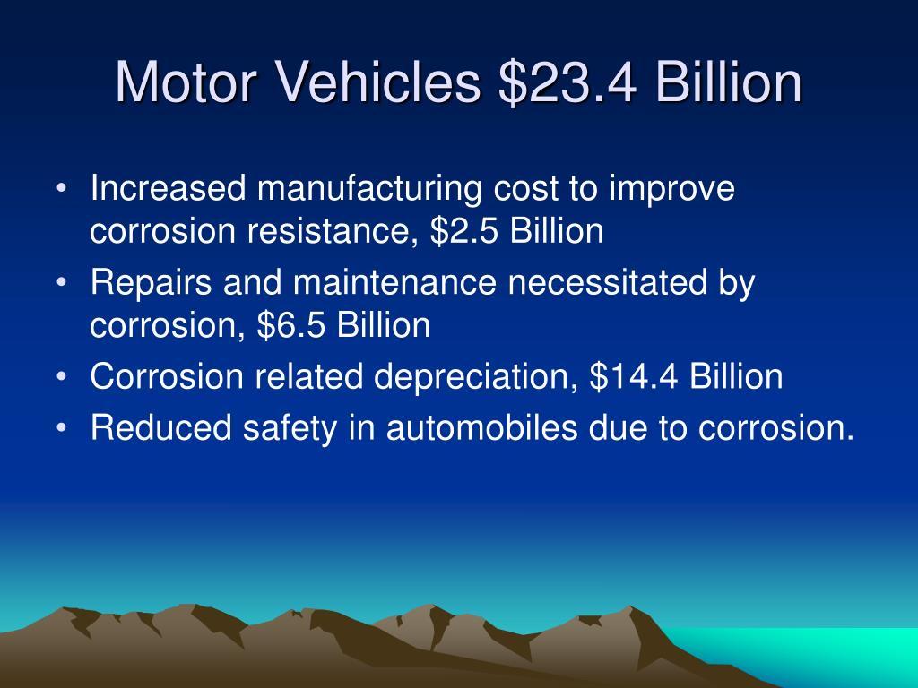 Motor Vehicles $23.4 Billion