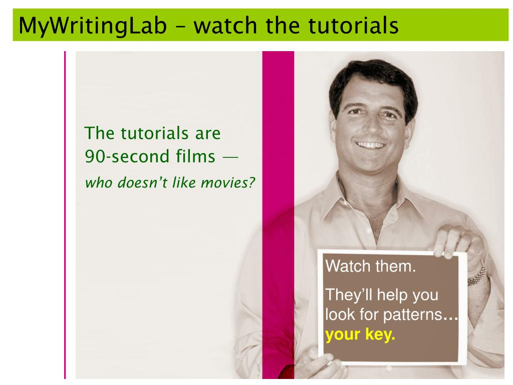 MyWritingLab – watch the tutorials