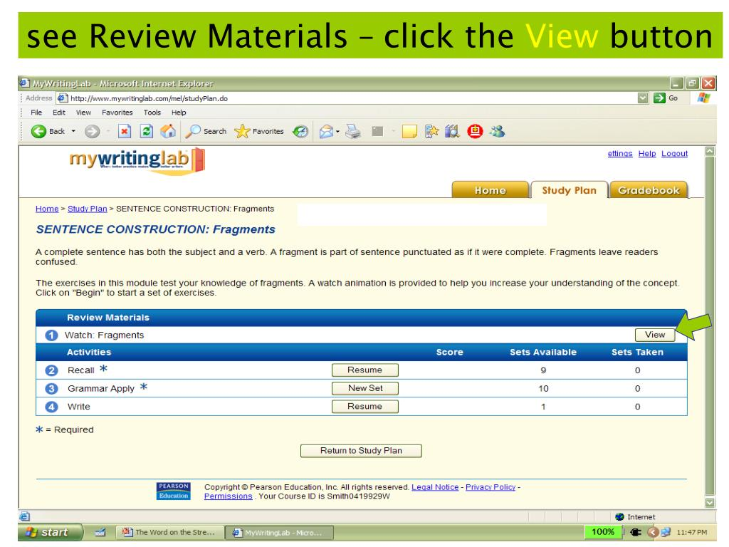 see Review Materials