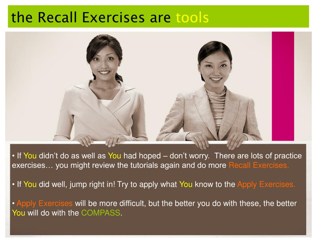the Recall Exercises are