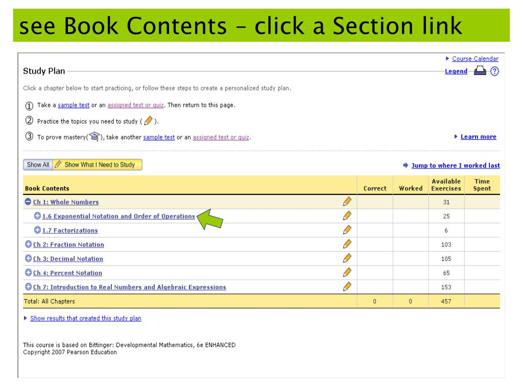 see Book Contents – click a Section link