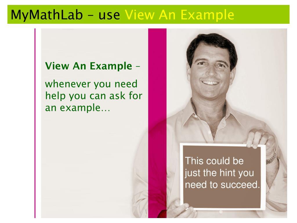 MyMathLab – use