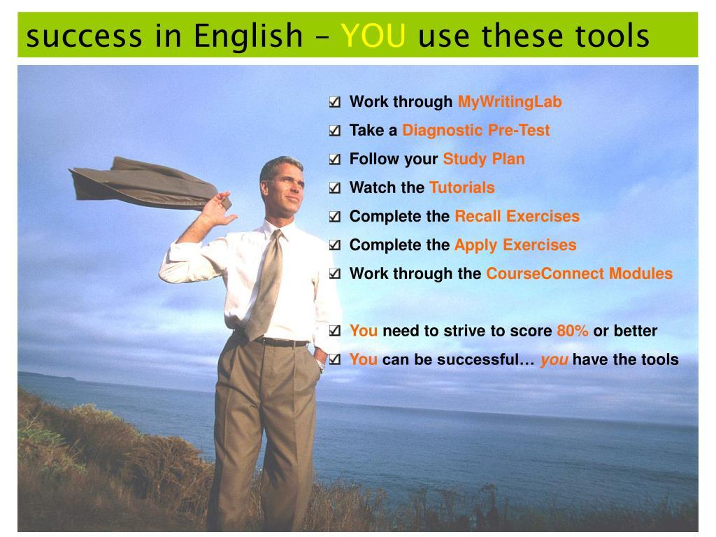 success in English –