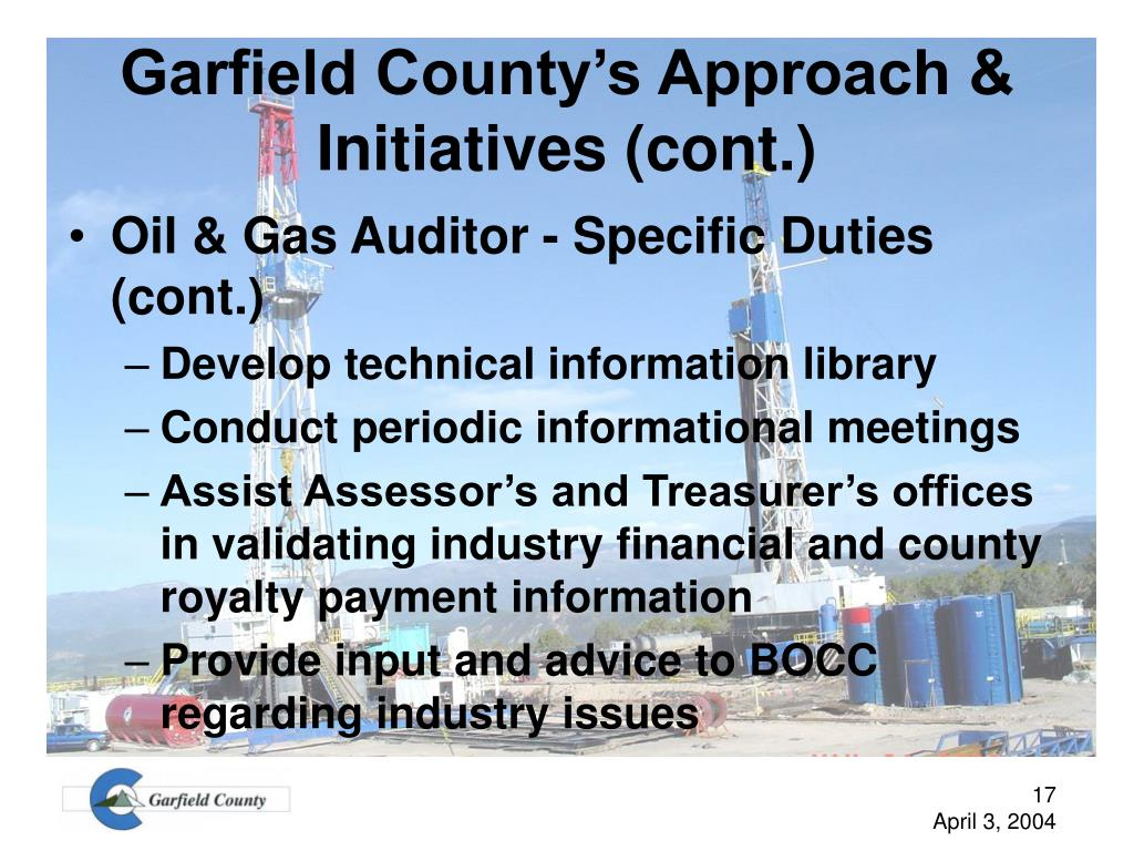 Garfield County's Approach & Initiatives (cont.)