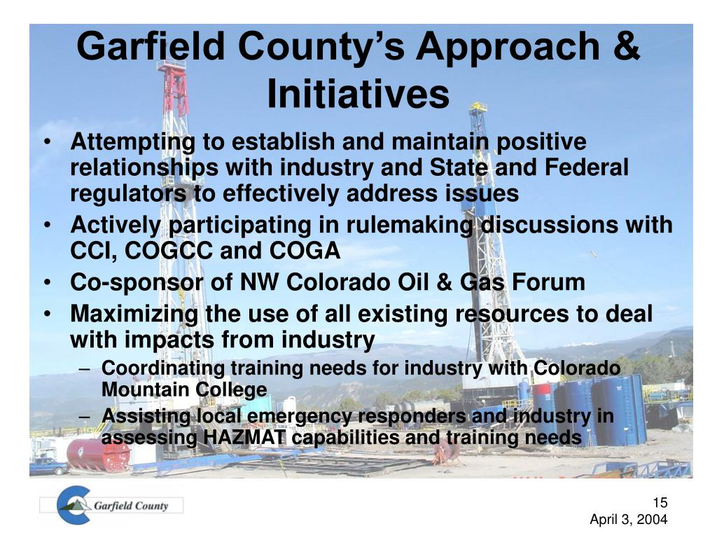 Garfield County's Approach & Initiatives