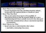 culture and negotiations
