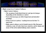 cultures across countries
