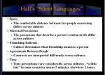 hall s silent languages