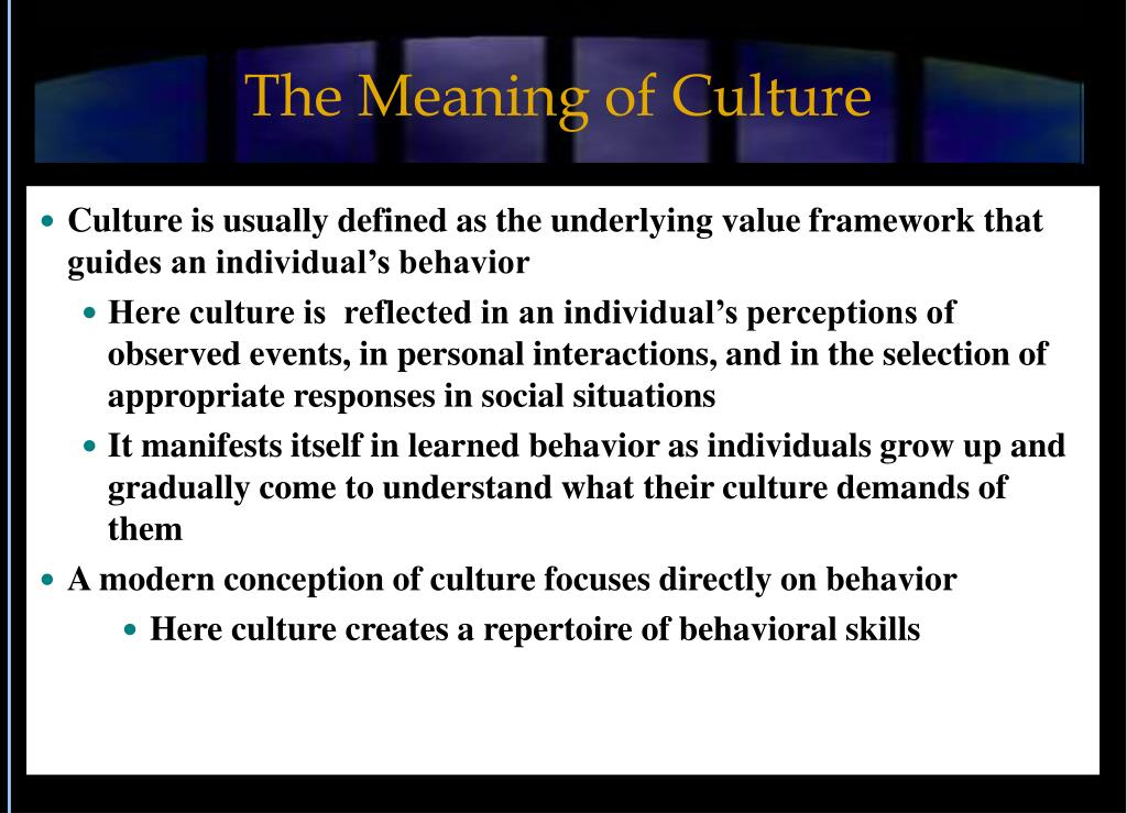 the meaning of culture l.