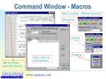 command window macros