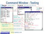 command window testing