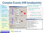 complex events hw breakpoints